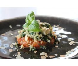 Risotto van quinoa met spinazie en tofu