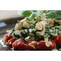 Risotto met kalkoen, spinazie, basilicum en tomaat